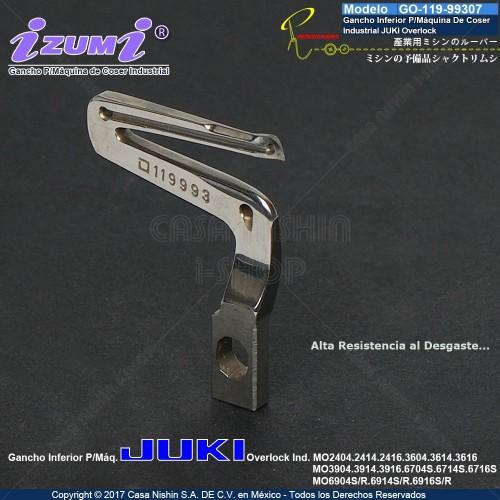GO-119-99307 Gancho Inferior P/Máquina De Coser Industrial JUKI Overlock MO24.36.39.67.69 4.5 Hilos