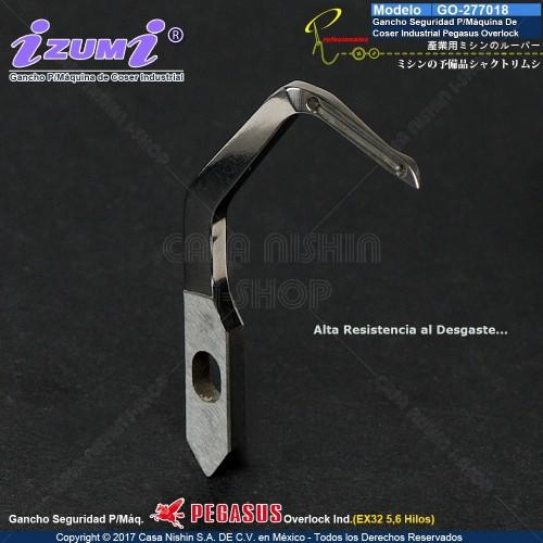 GO-277018 Gancho Seguridad P/Máquina De Coser Industrial PEGASUS Overlock EX32 5,6 Hilos