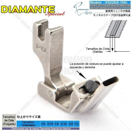 AO-KS220(S-10A) Pie p/Fijar cinta(Variable) en Máquina de Coser de Recta Industrial