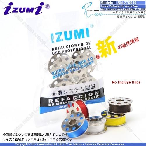 BN-270010 Carrete Perforado De Metálico Para Máqquina De Coser Recta Industrial 21*9*6(mm)