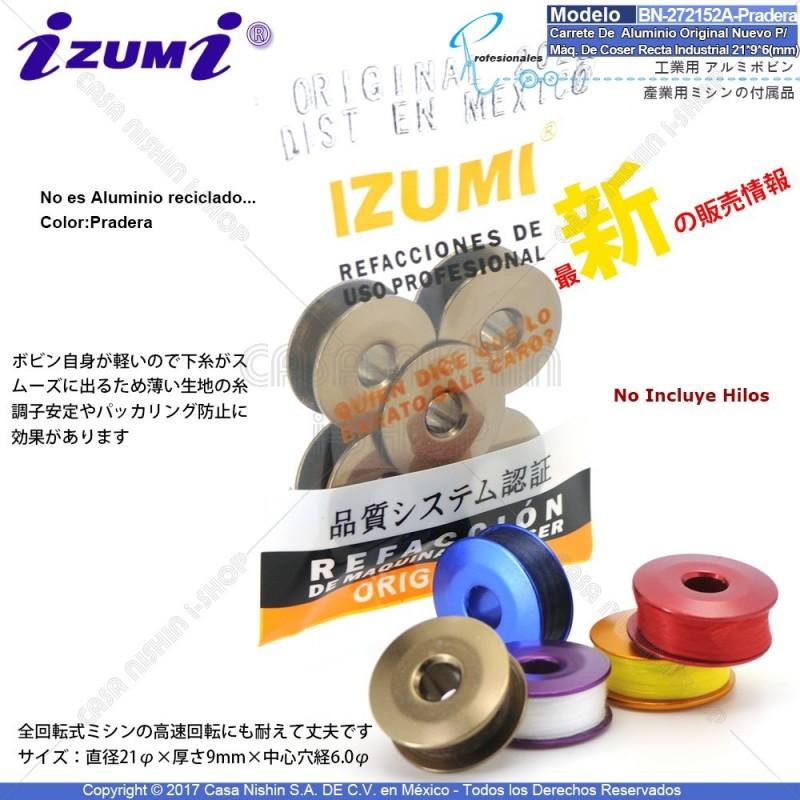 BN-272152A Carrete De Aluminio Original Nuevo Color:Pradera Para Máquina De Coser Recta Industrial 21*9*6(mm)