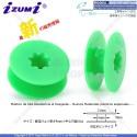 BN-BO103P-ASRT-Verde Carrete De Plástico de alta resistencia al desgaste P/Máquina De Coser Recta Industrial 21*9*6(mm)