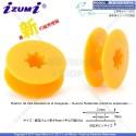 BN-BO103P-ASRT-Amarillo Carrete De Plástico de alta resistencia al desgaste P/Máquina De Coser Recta Industrial 21*9*6(mm)