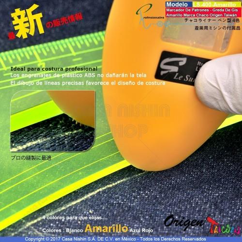 LZ-Marcador De Patrones - Greda De Gis Triángulo-Amarillo Marca Chaco Origen Taiwán