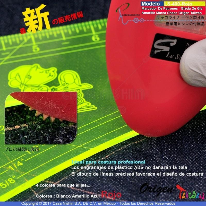 LZ-Marcador De Patrones - Greda De Gis Triángulo-Rojo Marca Chaco Origen Taiwán