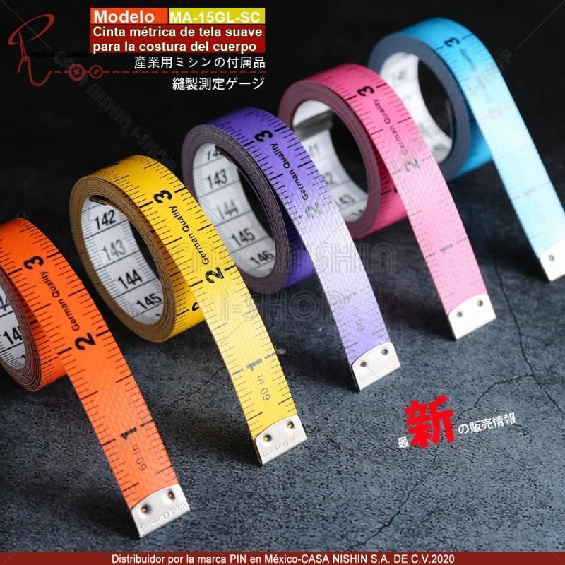 MA-15GL-SC Cinta métrica de tela suave para la costura del cuerpo 5 Color