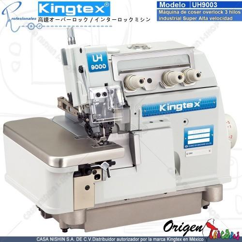 UH-9003-032-M04 Máquina de coser Overlock 3 hilos industrial super alta velocidad marca Kingtex