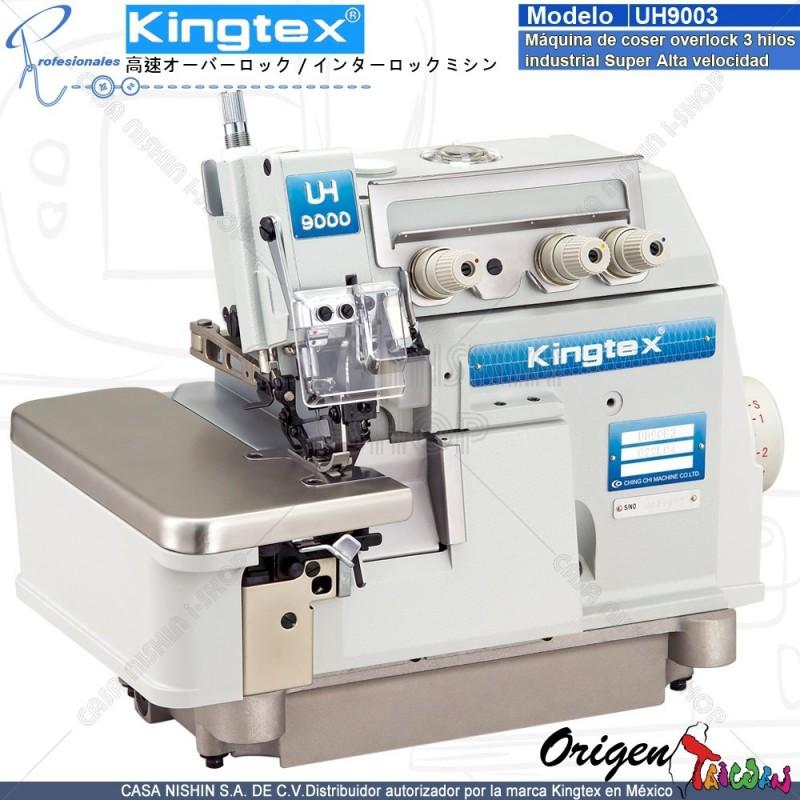 UH-9003-032-M04 Máquina de coser Overlock 3 hilos industrial super alta velocidad