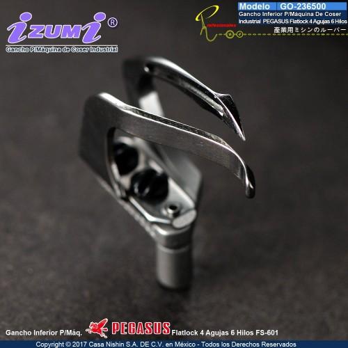 236500 Gancho Inferior P/Máquina De Coser  Industrial  PEGASUS Flatlock 4 Agujas 6 Hilos
