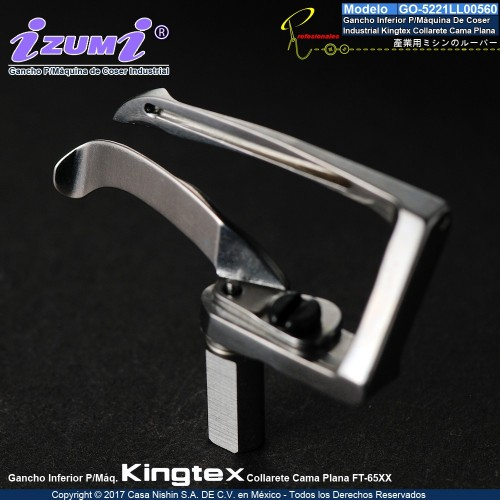 5221LL00560 Gancho Inferior P/Máquina De Coser  Industrial Kingtex Collarete Cama Plana FT-65xx