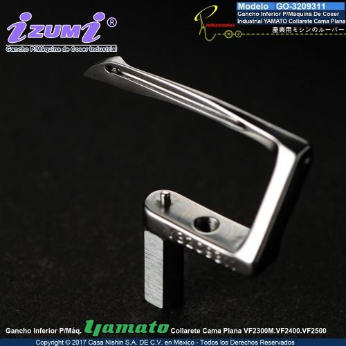 3209311 Gancho Inferior P/Máquina De Coser  Industrial YAMATO Collarete Cama Plana VF23-24-25XX
