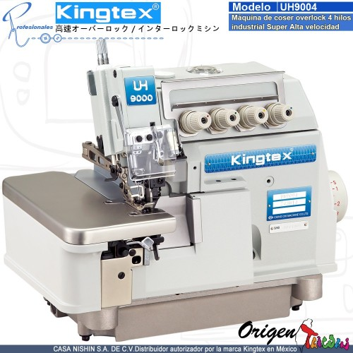 UH-9004-253-M14 Máquina de coser Overlock 4 hilos industrial super alta velocidad marca Kingtex