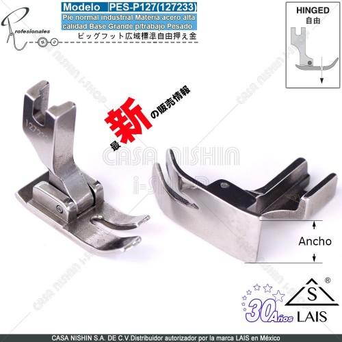 P127(127233) Pie normal industrial Base Grande p/trabajo Pesado p/Máq.de coser Recta industrial