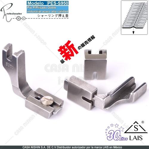 S950 PieP/PlisadoDoble Aceo p/Máquina de coser Recta Industrial Original