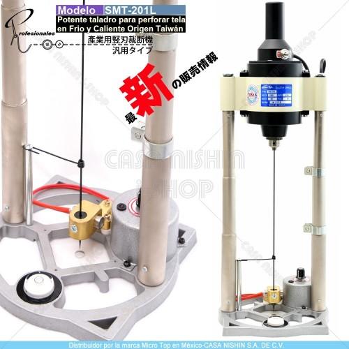 CA-SM-201L Potente Taladro para perforar tela en Frio y Caliente Marca Micro Top Origen Taiwán