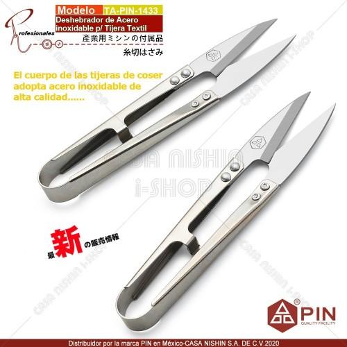 TA-PIN-1433 Deshebrador de Acero Inoxidable p/Tijera Textil