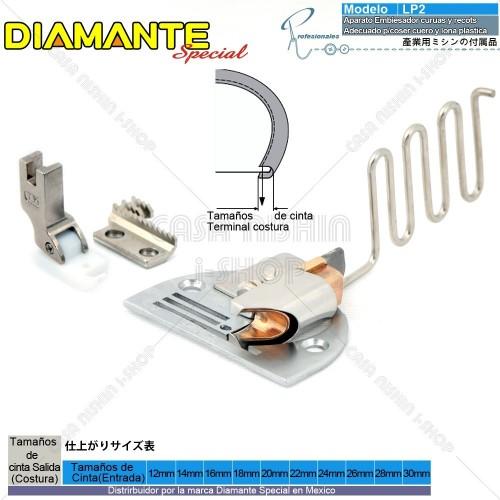 AO-LP2 Aparato Embiesador curuas y recots Adecuado p/coser cuero y lona plástica en Máquina Recta Industrial