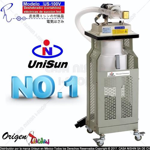 US-100V Cortahilos eléctricas industrial incluye sistema succión