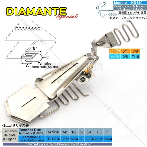 AO-KS110 Aparato p/Encintado con vivo (Doble) en Máquina de coser de Collarete Industrial