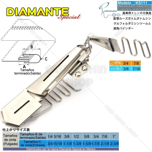 AO-KS111 Aparato p/Encintado con vivo (Cencillo) en Máquina de coser de Collarete Industrial