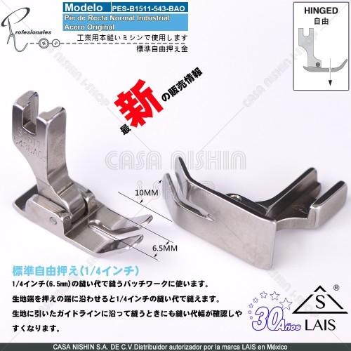 B1511-543-BAO Pie de Recta Normal Industrial Acero Original