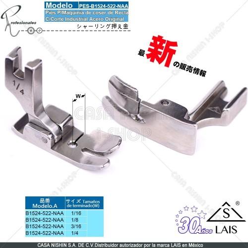 B1524-522-NAA Pies P/Máquinia de coser de Recta C/Corte Industrial Acero Original