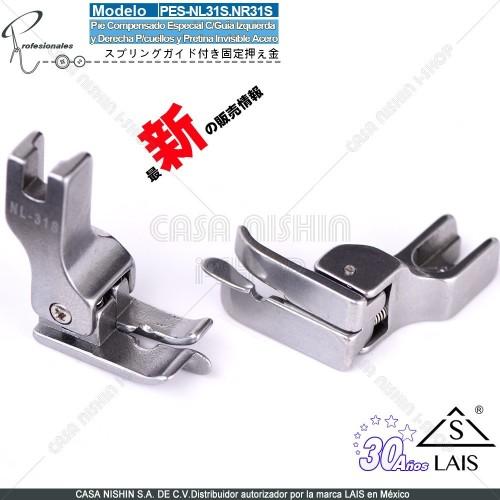 NL31S NR31S Pie Compensado Especial C/Guía Izquierda y Derecha P/cuellos y Pretina Invisible Acero