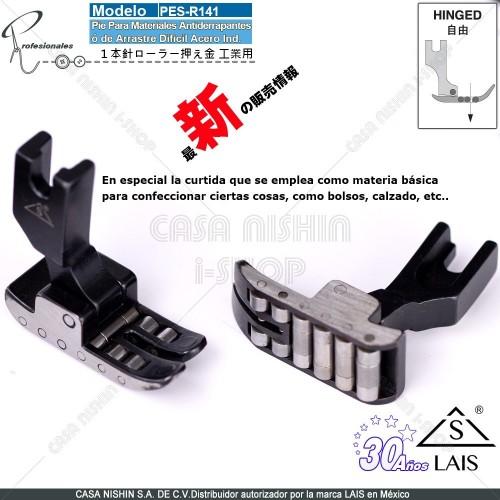 R141 Pie P/Materiales Antiderrapantes ó de Arrastre Dificil  Acero p/Máquina de coser Recta Industrial Original