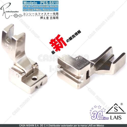 S518 Pie de Cierre Invisible Ancho sin Guía p/Máquina de coser Recta Industrial Original